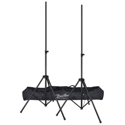 LS100-BKB Boston one pair of lighting stands with bag